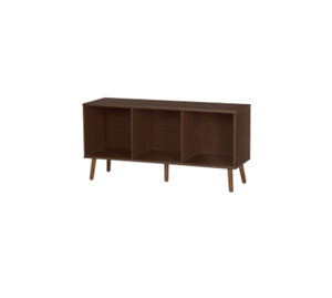 Espresso Solid Wood TV Stand with Storage Space