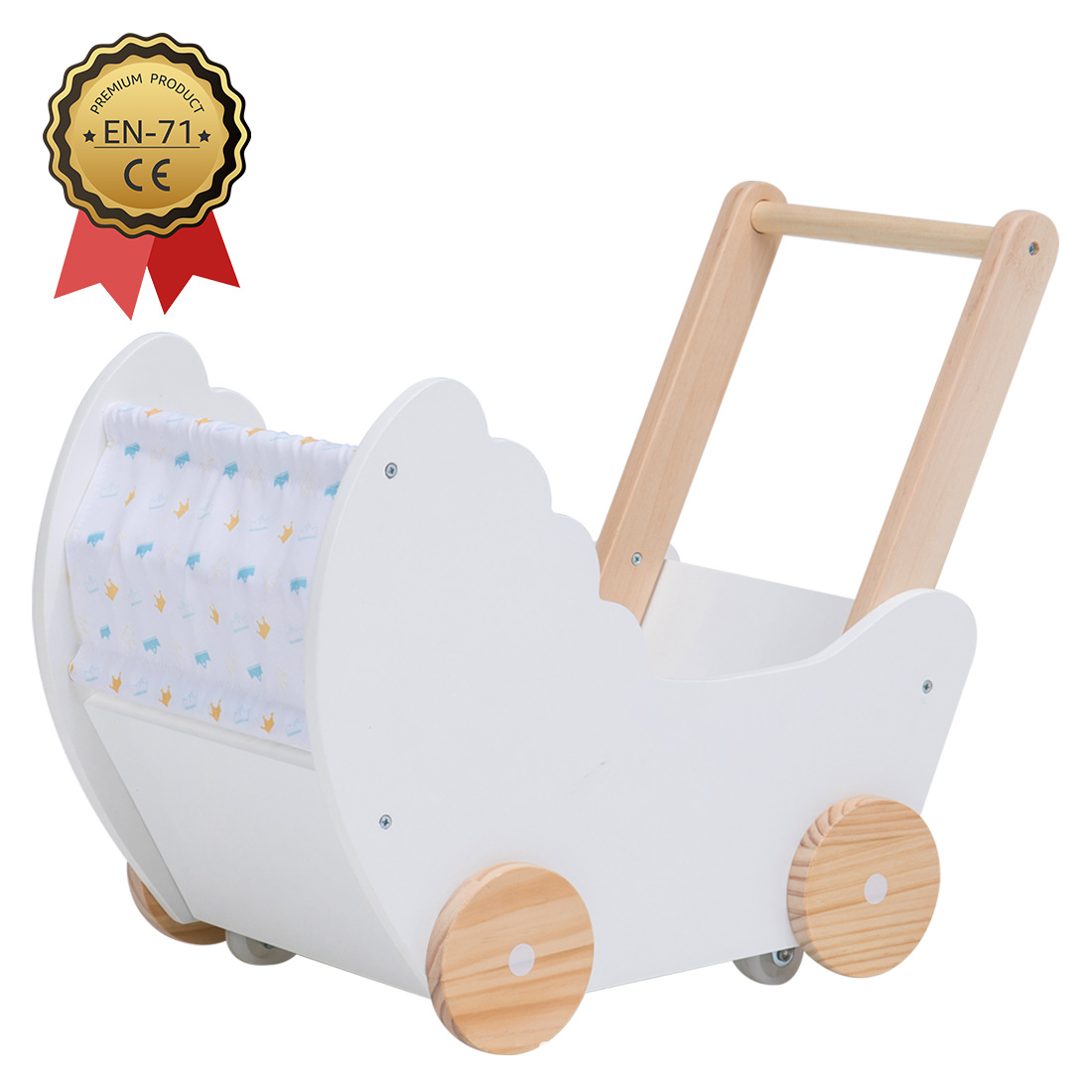 MDF Baby Learning Walker Wooden Toys
