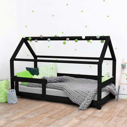 Solid Wood House Bed for Kids Play