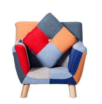 Fabric patchwork Solid Wood sofa chair for baby