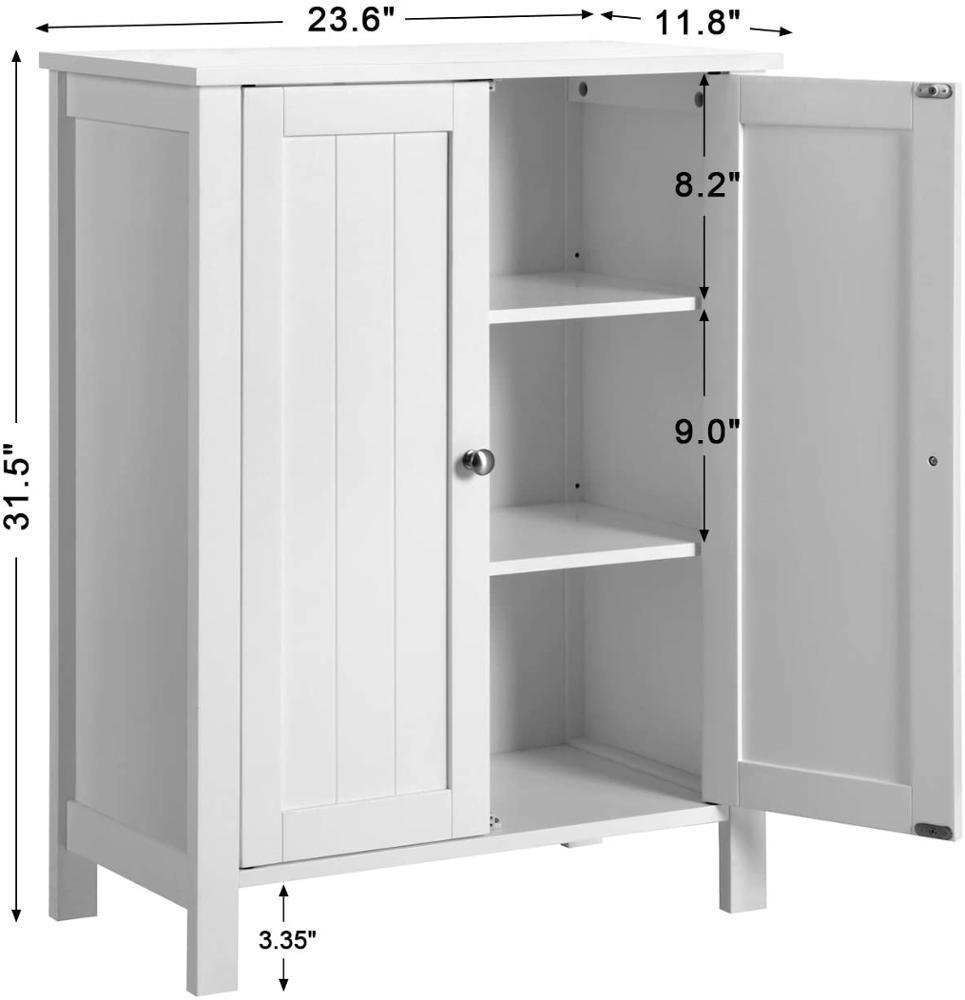 White MDF Wood Storage Cabinet for Bathtoom