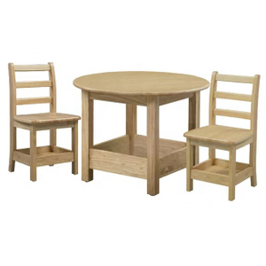 Kids' Solid Wood Dinning Table and Chair Set