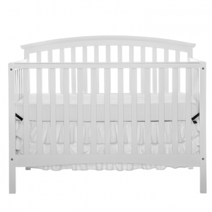 Convertible Pine Wood White Baby Crib