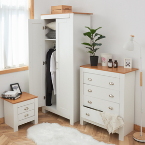 White 3 PC MDF Wood Storage Cabinet Set