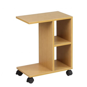 Modern Solid Wood Side Table with Caster for Tee