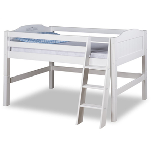 Kid Wood Mid-Sleeper Bed with Ladder