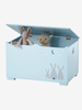 Blue MDF Wooden Storage Chest Toy Box for Kids