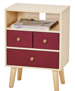 MDF Wood Side Cabinet with Open Storage Shelf