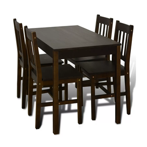 Solid Wooden Table and Chairs for Dining Room