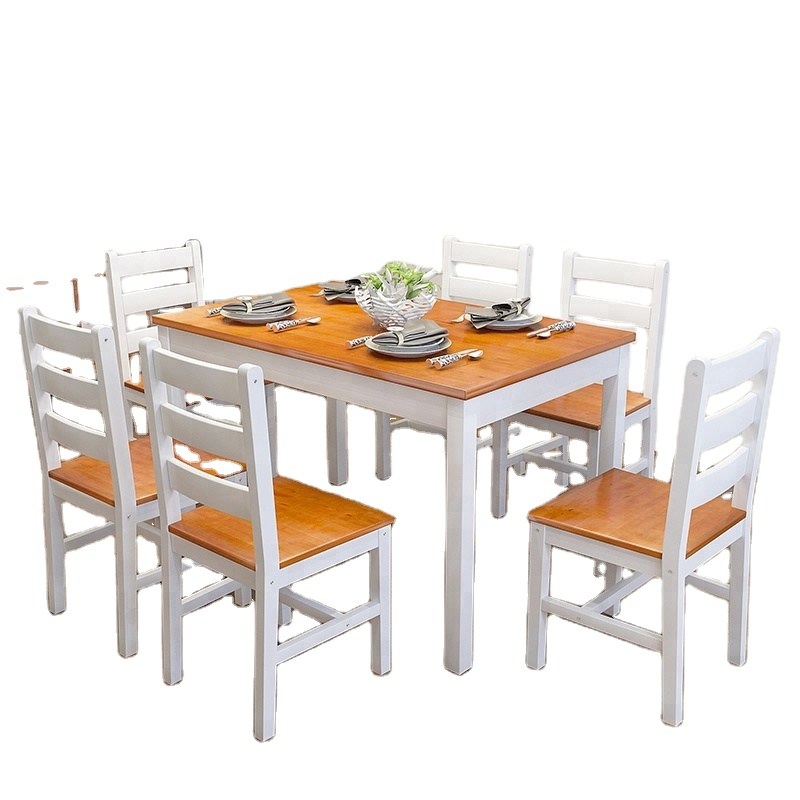 Durable solid wood Dining Table And Chair Set