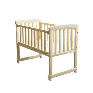 Wood Baby Crib with Mosquito Net
